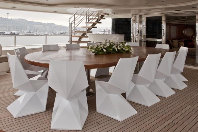 CRN motor yacht DARLINGS DANAMA  - Upper Deck Dining