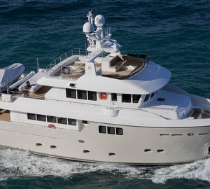 First images of the Darwin Class 86 expedition yacht PERCHERON by CdM Yachts