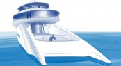 Feadship Future Concept Relativity Aft View of spacios Beach Club