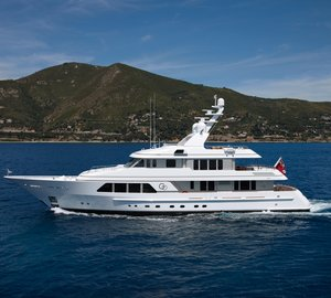 Feadship charter yacht GO on display in Cannes and Monaco