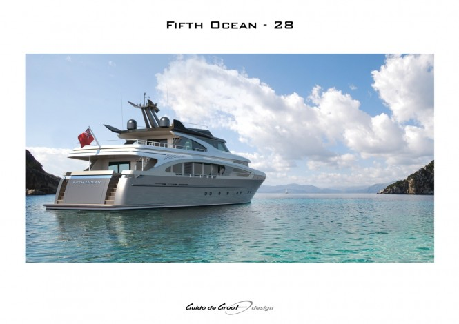 Fifth Ocean 28 yacht - rear view