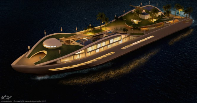 Floating IslandMegayacht Island(E)motion concept - Photo Credit MCM Designstudio 2012