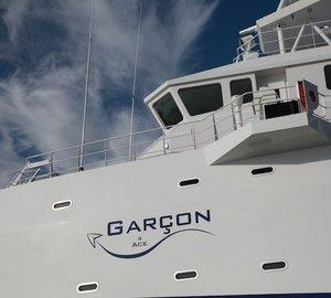 Sea Axe FYS Vessel GARCON 4 ACE - support vessel to 87m Lurssen ACE Yacht