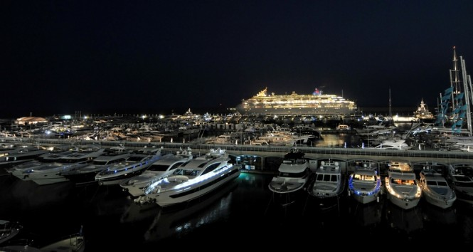 Genoa Boat Show by night