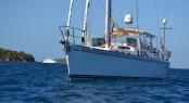Hylas 70 charter yacht Archangel boasting carbon fiber mast by GMT Composite