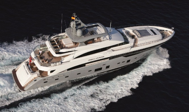 Imperial Princess superyacht - view from above