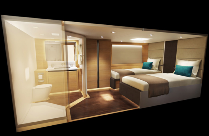 Wally Cento luxury yacht HAMILTON - Interior created by Design Unlimited