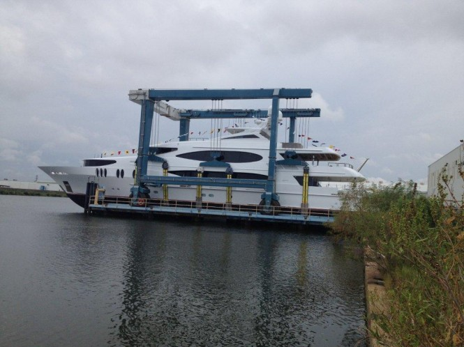 LADY SURA yacht -Trinity Yachts T-059 Launch Photo