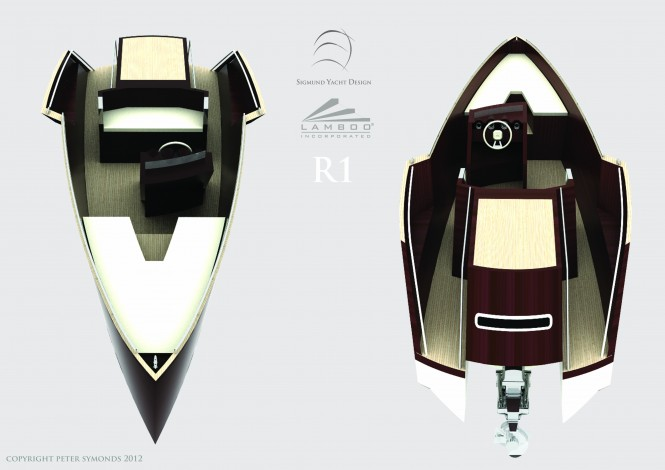 LAMBOO Tender R1 yacht designed by Sigmund Yacht Design - Photo credit Peter Symonds 2012