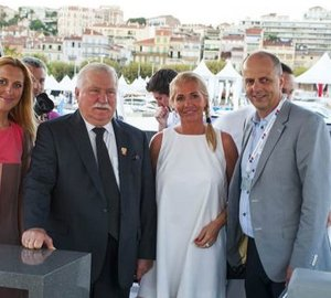 Sunreef Yachts' 10th Anniversary Celebrations in Cannes attended by President Lech Walesa