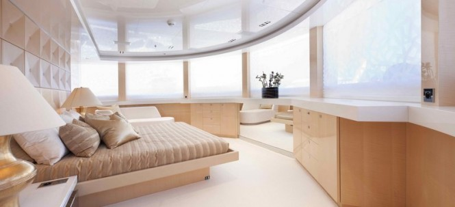 Luxurious cabins aboard superyacht La Pellegrina