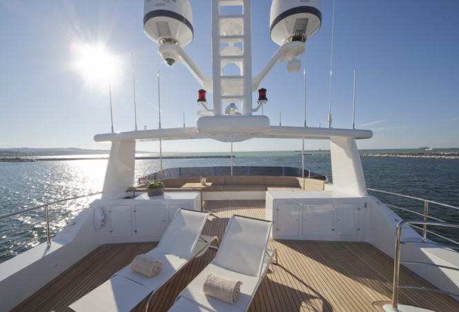 Luxurious exterior aboard superyacht Percheron - Photo by Maurizio Paradisi