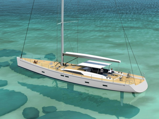 Luxury sailing yacht Swan 105 Credit: Nautors Swan 2012