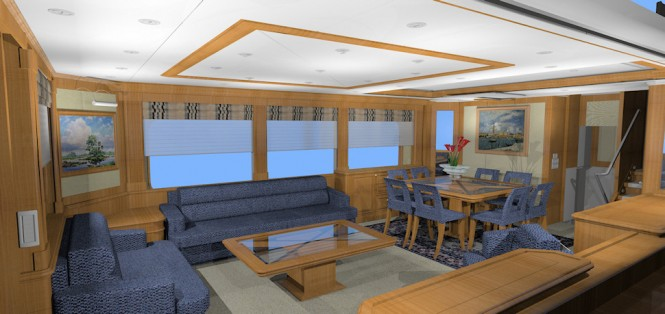 Luxury yacht D75 - Salon