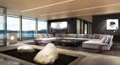 Luxury yacht Equilibrium - Salon