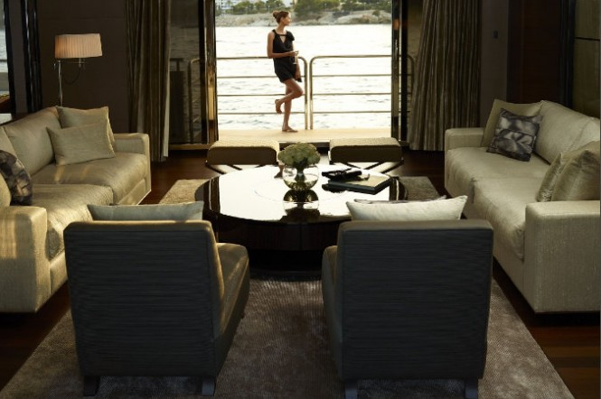 Luxury yacht Imperial Princess - Saloon