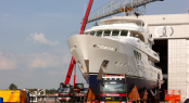 Luxury yacht SOFIA launched by Moonen Shipyards