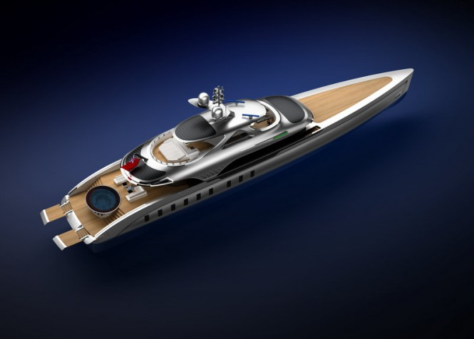 Luxury yacht Strato - view from above