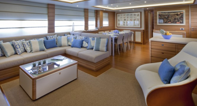 Motor yacht Percheron - Saloon Photo: Maurizio Paradisi