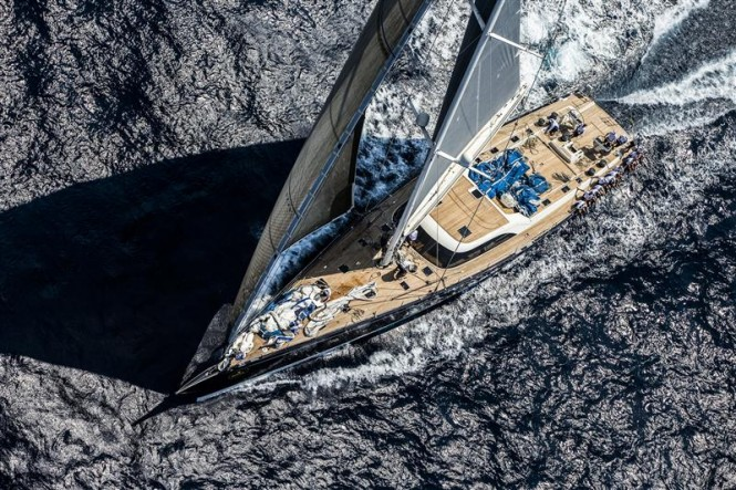 NILAYA superyacht competing in the Maxi Yacht Rolex Cup 2012 - Photo Carlo Borlenghi