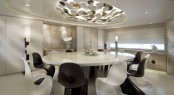 Oval Dining table onboard the superyacht DARLINGS DANAMA