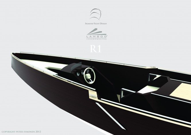 R1 yacht tender by Lamboo and Sigmund Yacht Designer Peter Symonds - Photo Credit Peter Symonds 2012