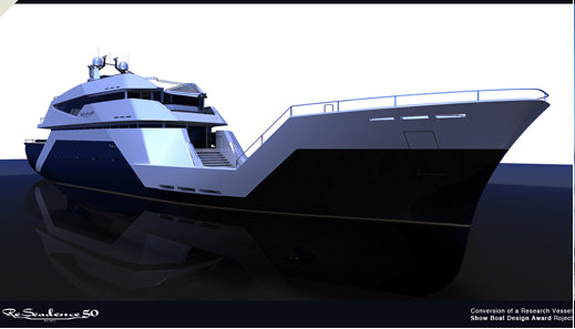 ReSeadence 50 superyacht - side view