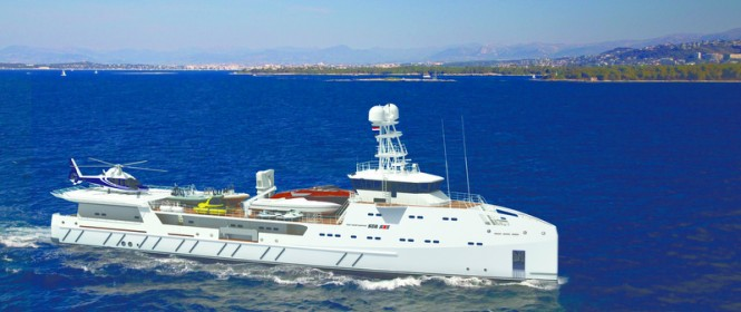 SEA AXE 6711 superyacht support vessel Garcon by Amels