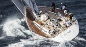 Sailing yacht Plis Play challenging the conditions - Photo by Rolex Carlo Borlenghi