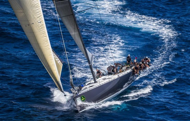 Sailing yacht Ran 2 during the first day of racing in Porto Cervo - Photo by Rolex Carlo Borlenghi