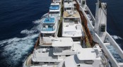 Sevenstar Yacht Transport carrying 93 yachts on 7 motor vessels for FLIBS 2012