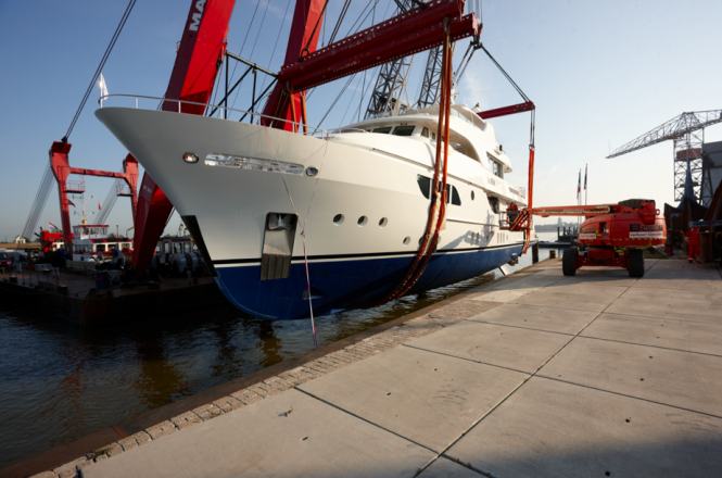 Sofia Yacht launched at the Moonen Shipyards