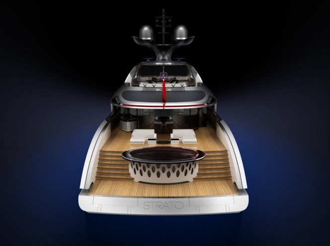 Strato superyacht - rear view