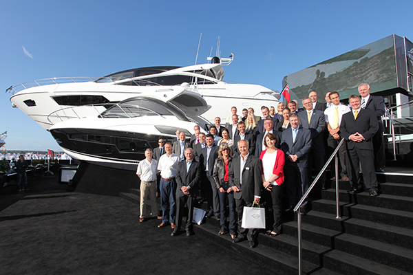 Sunseeker Award Winners at the Southampton Boat Show