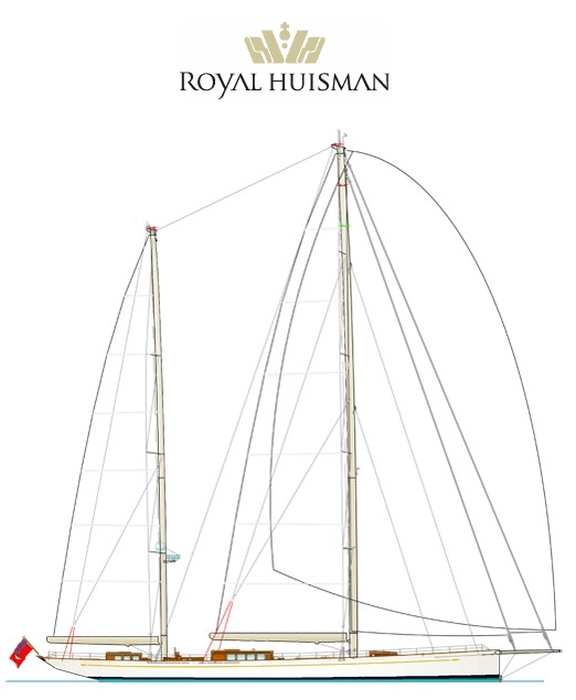 Superyacht Kamaxitha (The Spirit of Tradition Ketch) by Royal Huisman and Dykstra & Partners