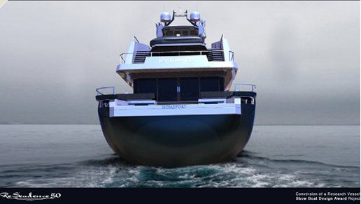 Superyacht ReSeadence concept - rear view