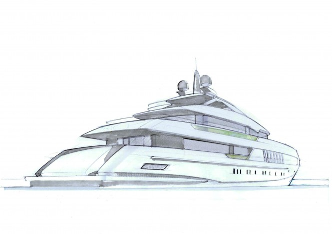 The 55m FDHF motor yacht by Heesen