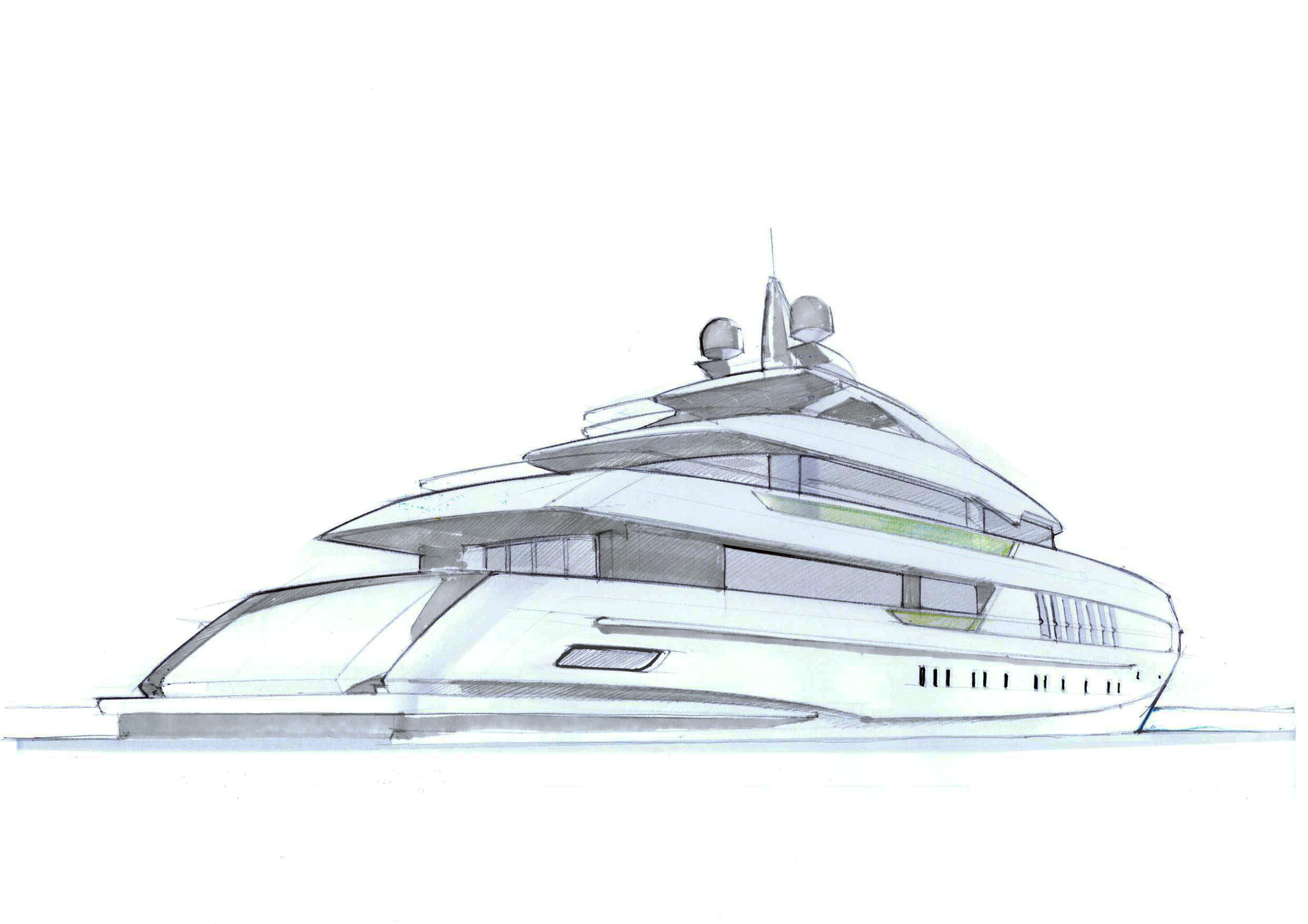Art Line Yacht Design : Yacht line drawing