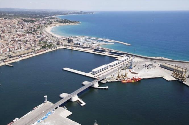 The deep water superyacht marina Port Tarraco located on the doorstep of the beautiful and historic city of Tarragona on Spain's 'Golden Coast'