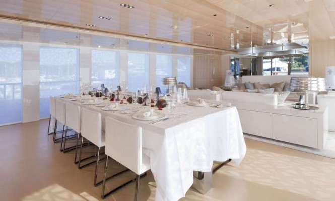 The first 5000 Fly Couach superyacht La Pellegrina - Dining