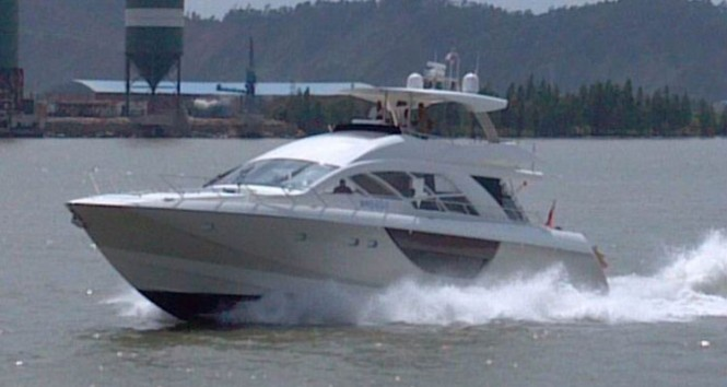 The first Alpha 76 Flybridge Express yacht Hull 5033 - Image courtesy of Cheoy Lee