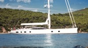 The first Oyster 100 sailing yacht Sarafin designed by Dubois