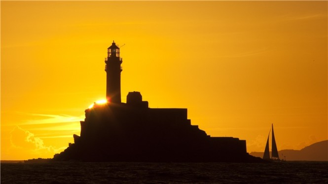 The magnificent Fastnet Rock captured during the 2011 Rolex Fastnet Race Credit: Rolex/Carlo Borlenghi