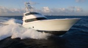 The new Hatteras 77 Covertible superyacht to boast a Seakeeper M26000 gyros