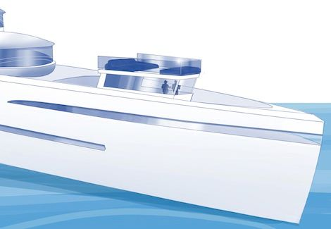 The wheelhouse on the Future Concept 'Relativity' by Feadship