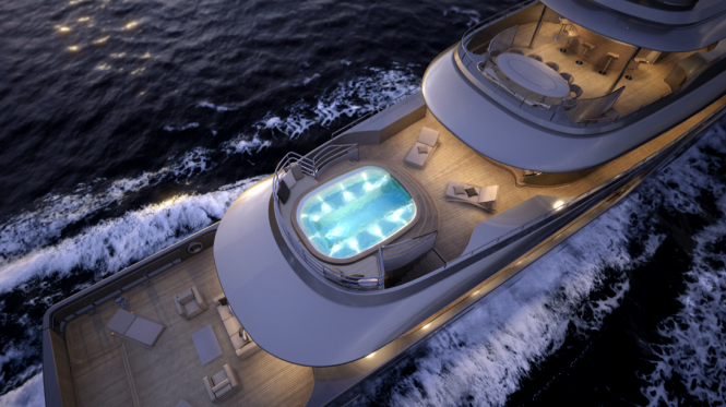 View from above at the Mondo 45 Yacht