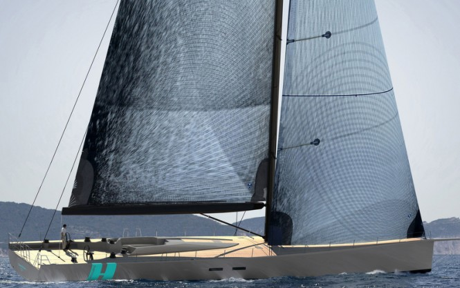 WallyCento sailing yacht Hamilton built by Green Marine