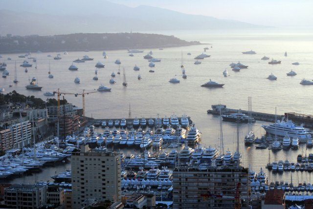 103 luxury superyachts on display along the Port Hercule quayside