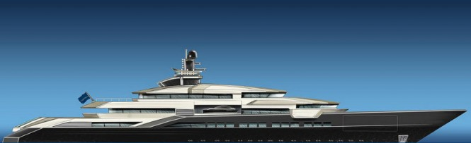 110m Oceanco megayacht DP002 designed by Nuvolari and Lenard