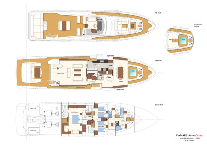 30-metre luxury yacht Amer 100' by PerMare